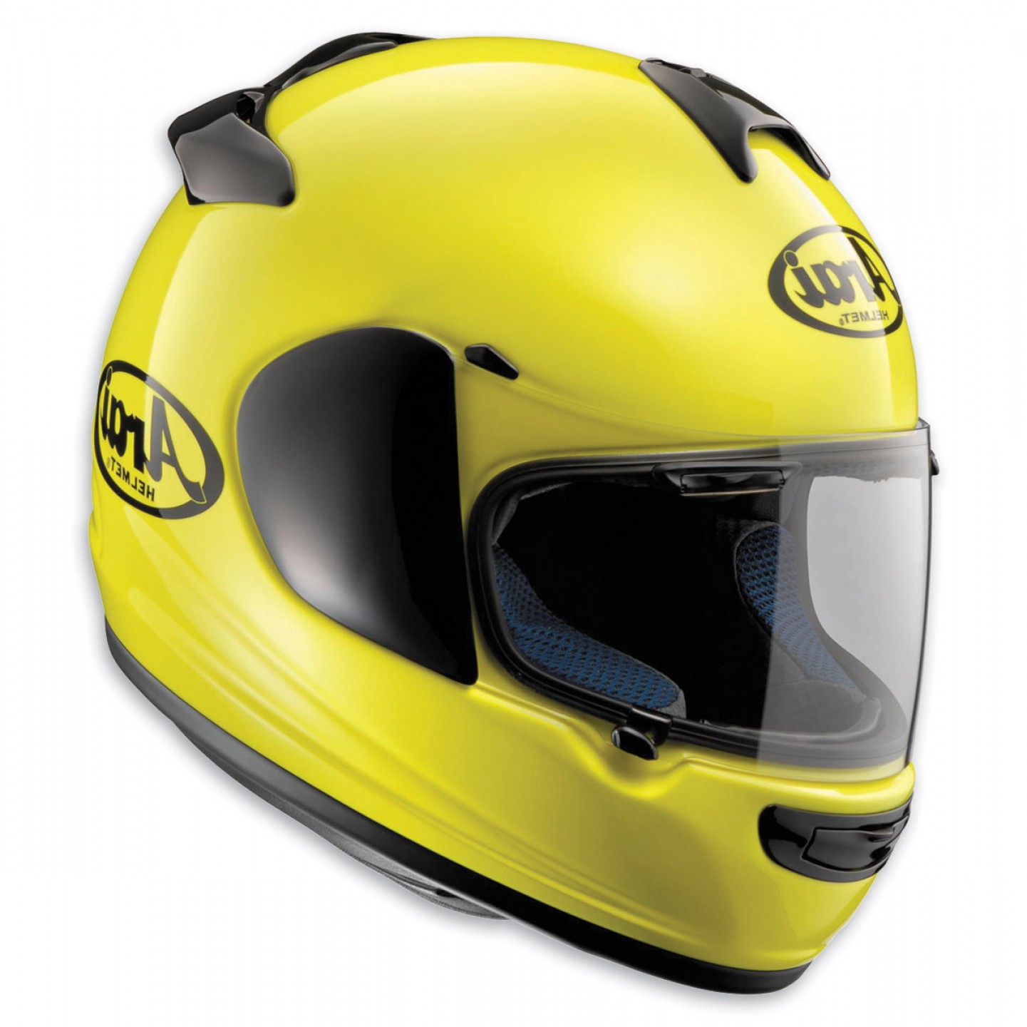 Arai Vector 2 Model: Arai Vector Fluorescent Yellow Full Face Helmet