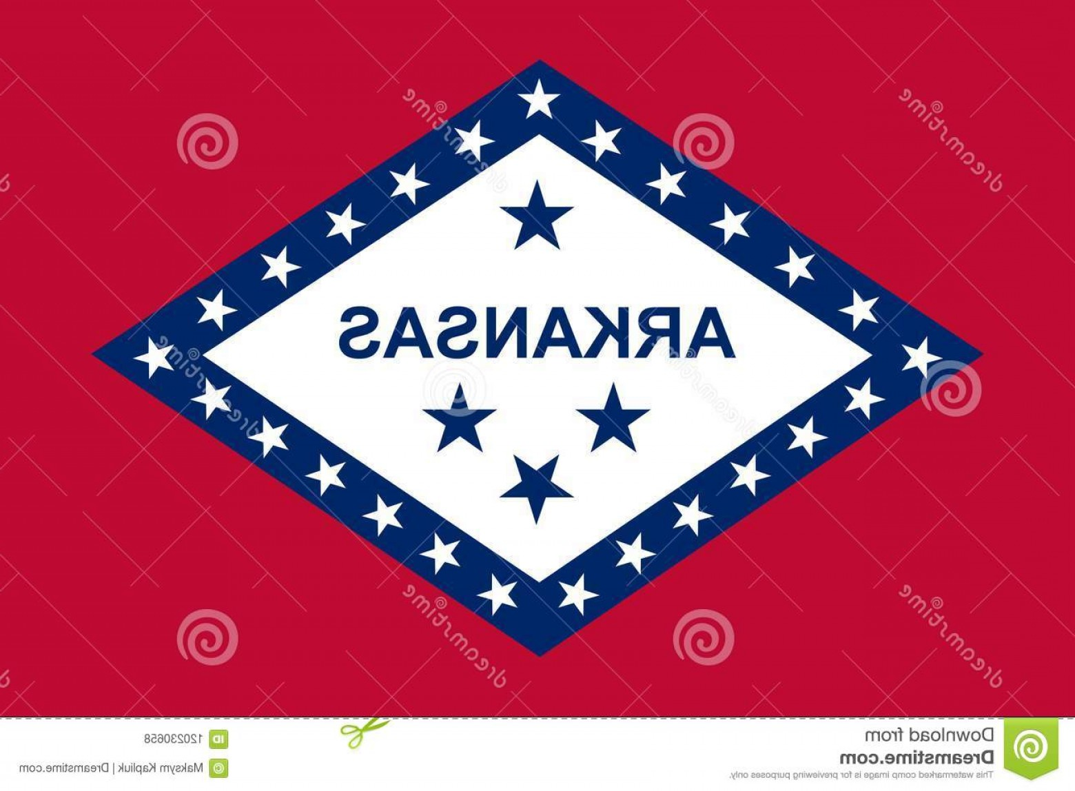 State Flag Images Vector: Arkansas State Flag Vector Illustration United States America Image