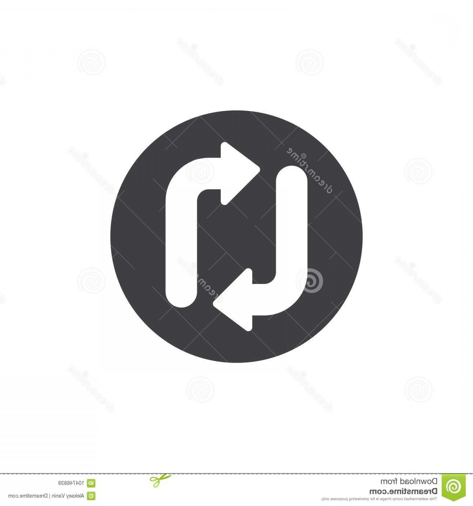 Refresh Icon Vector: Arrow Update Refresh Icon Vector Arrow Update Refresh Icon Vector Filled Flat Sign Solid Pictogram Isolated White Transfer Image
