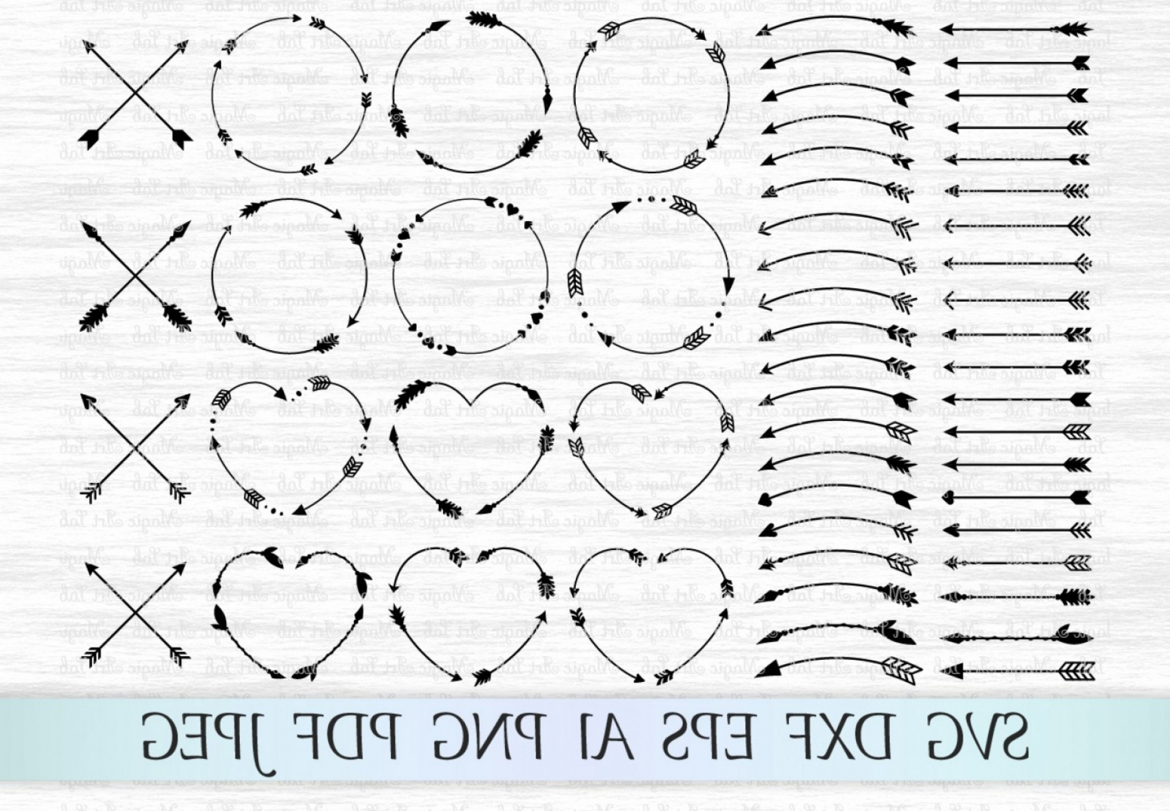 Single Tribal Arrow Vector SVG: Arrows Svg Circle Monogram Svg Circle Frame Arrow Heart Frame Criss Cross Arrows Tribal Arrows Svg Boho Arrows Clipart Ethnic Aztec