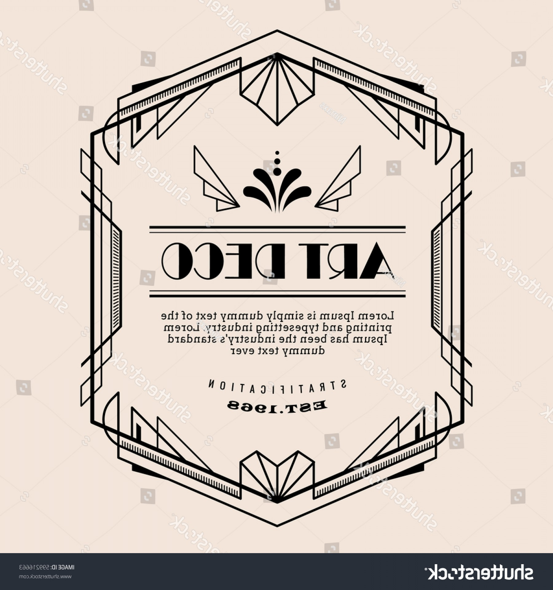 Art Deco Vector Small Posters: Art Deco Vintage Border Vector Design