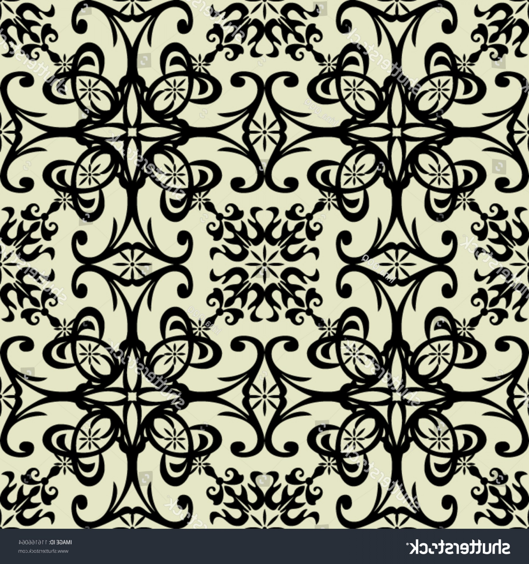 Damask Background Vector Art: Art Vintage Damask Pattern Background Vector