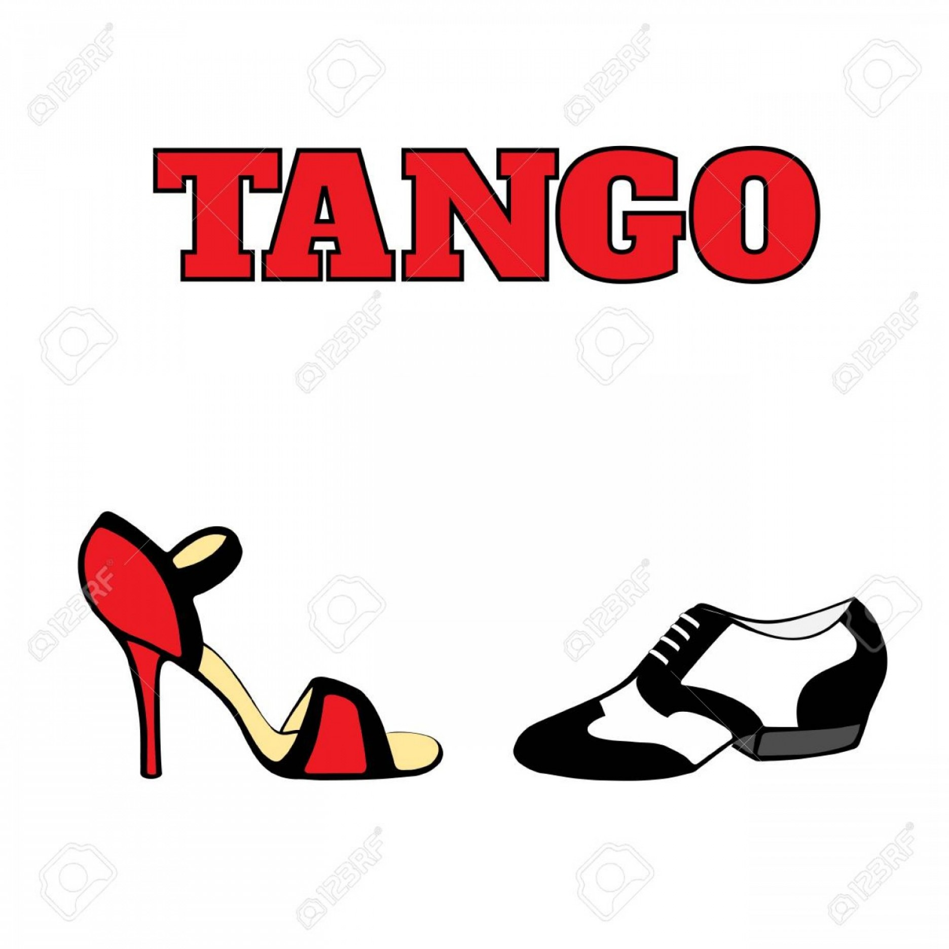 Vector Dancing Shoes: Artistic Photostock Vector Vector Argentine Tango Dancing Shoes Poster Men Shoe In Black And White S Style Women Shoe High He