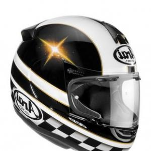 Arai Vector 2 Model: Arai Vector Colin Edwards Motogp Replica Graphic Black White Stars Helmet L