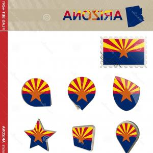 Arizona Flag Vector: Arizona Flag Set Us State Flag Set Vector Arizona Flag Set Flag Set Image