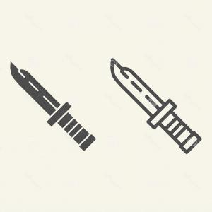 Vector Army Knife: Army Military Knife Vector Clipart