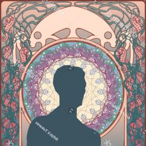 Vector Equilibrium Flower Of Life Taurus: Art Nouveau Style Poster Template Sea