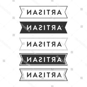 Hipster Vector Ribbon: Stock Illustration Ribbon Banners Modern Hipster Style