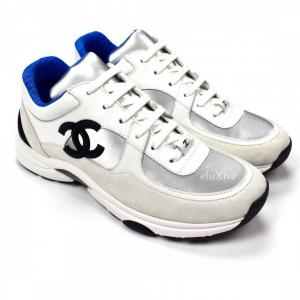 Chanel C Vector: Artistic Chanel Trainer Sneakers P Blue Ds