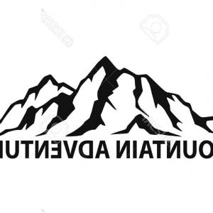 Mountain Range Silhouette Vector Free: Adorable Stock Illustration Mountain Range Silhouette Isolated White Background Blue Vector Illustration Copy Space Image