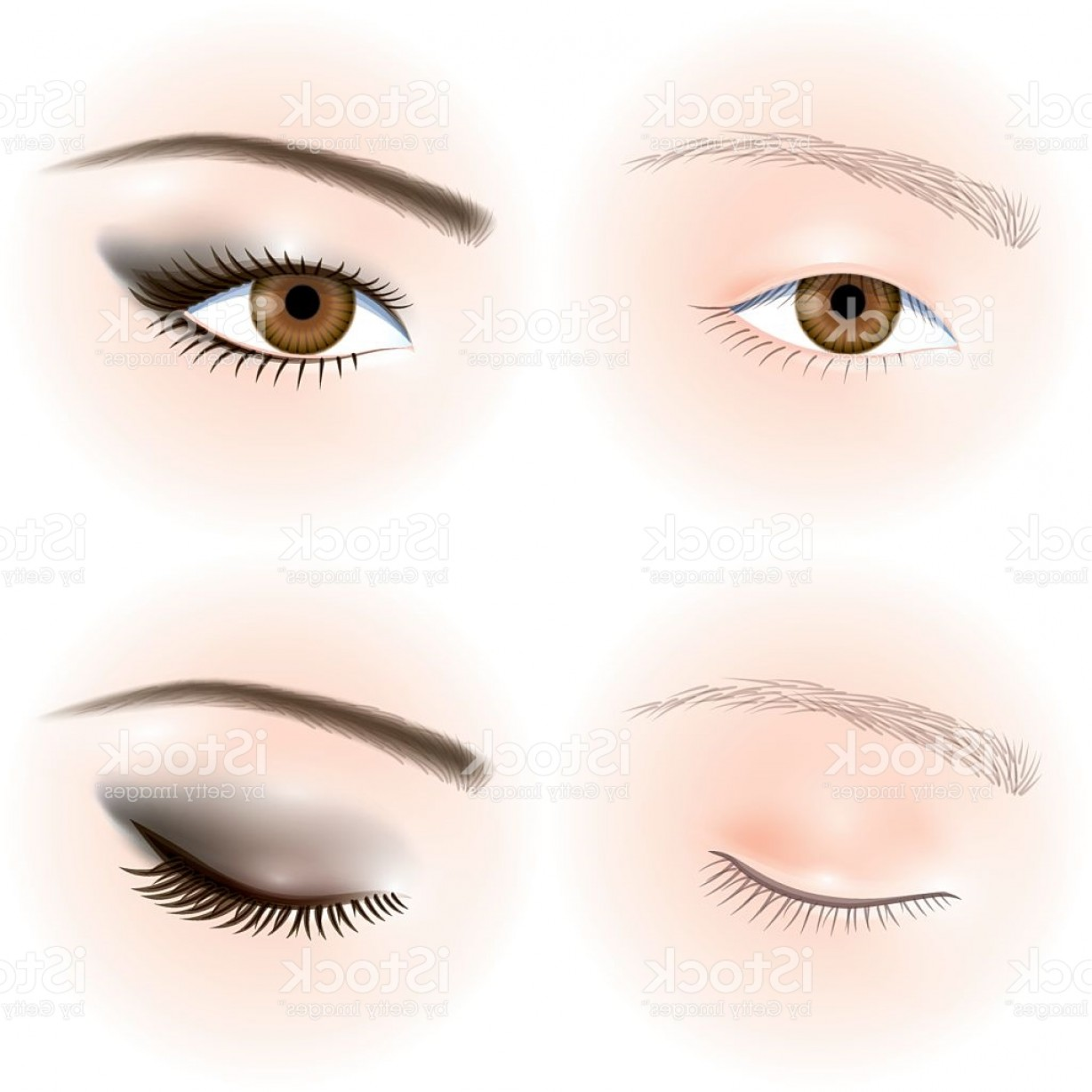 Vector Illustration Eyes Makeup: Asians Eyes Eye Makeup Gm