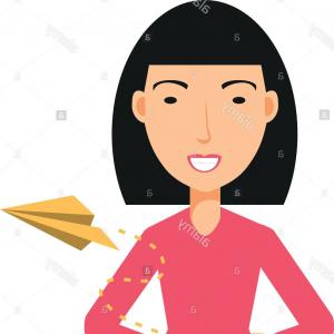 Asian Woman Vector: Asian Woman Talking On Mobile Phone
