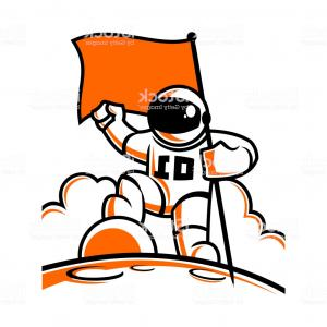 Vectors Space Suit: Astronaut Character In Space Suit With Flag Gm