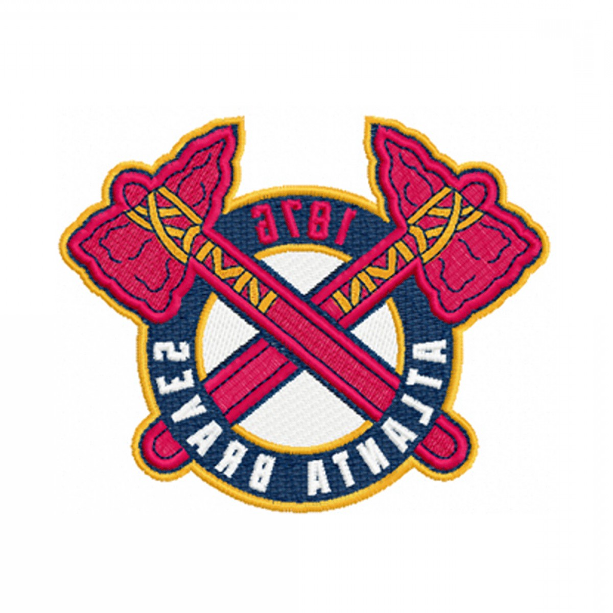 Braves Logo Vector: Atlanta Braves Embroidery Design Instant Download