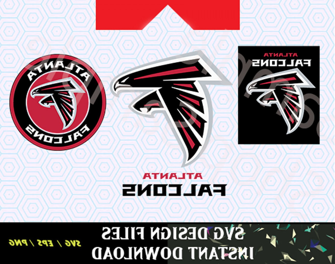 Atlanta Falcons Logo Vector Silhouette: Atlanta Falcons Logo Svg Vinyl Cutting Decal For Mugs T Shirts Cars Svg Files For Silhouette Cameo Cut Files Svg Car Decal