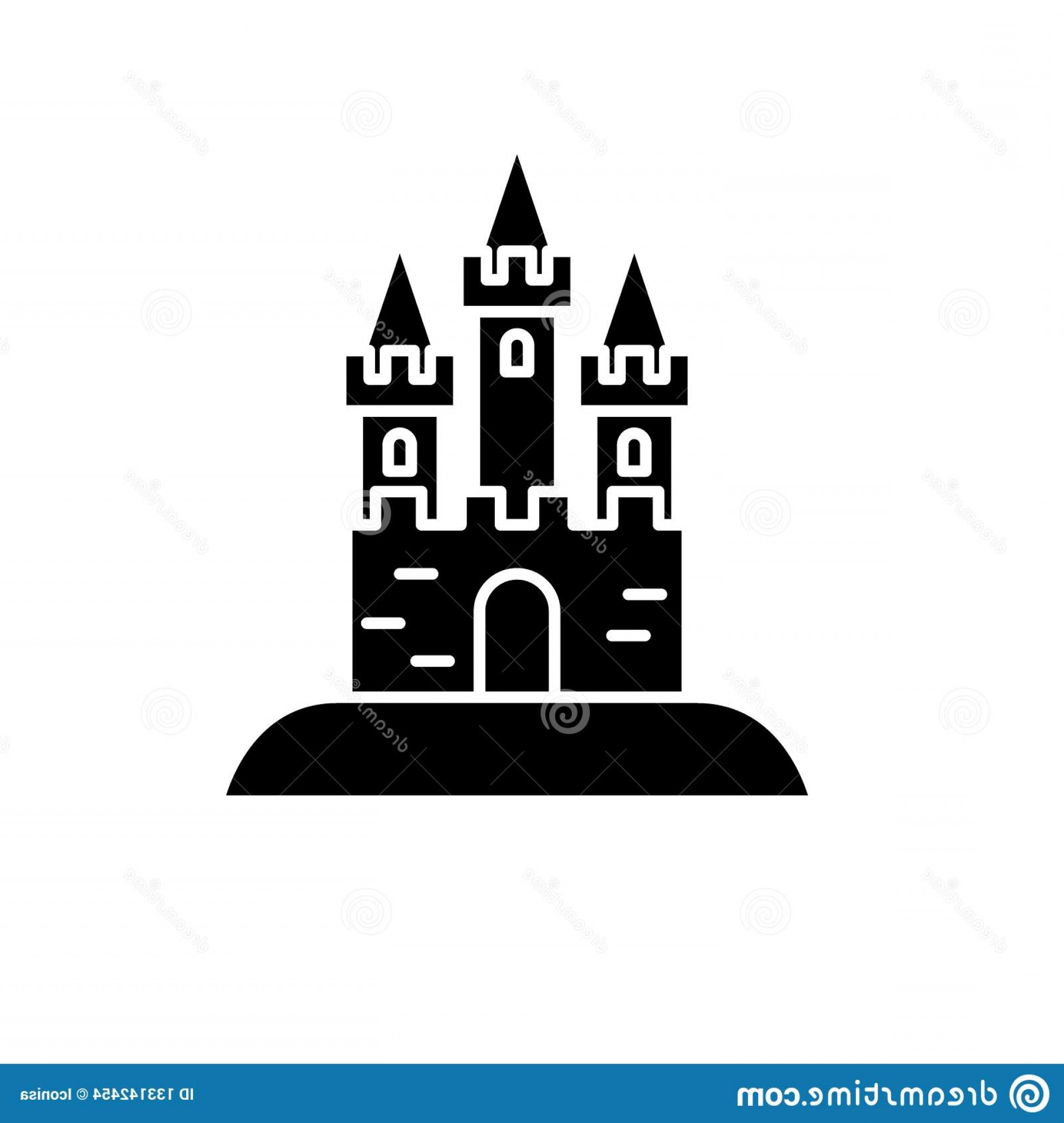 Attraction Icon Vector: Attraction Park Black Icon Vector Sign Isolated Background Attraction Park Concept Symbol Illustration Attraction Park Black Image