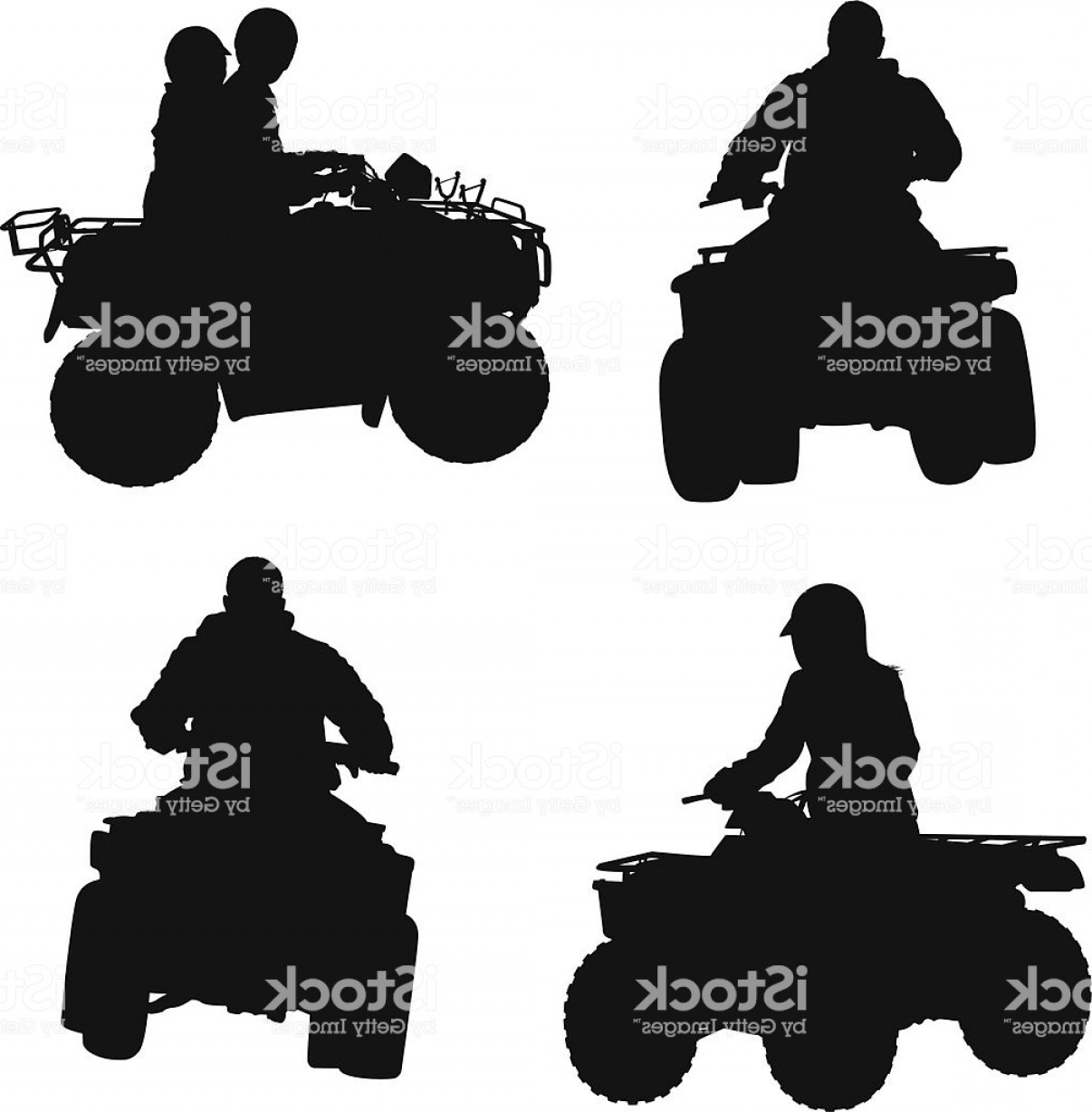 4 Wheeler Vector Art: Atv Four Wheeler Riding Gm