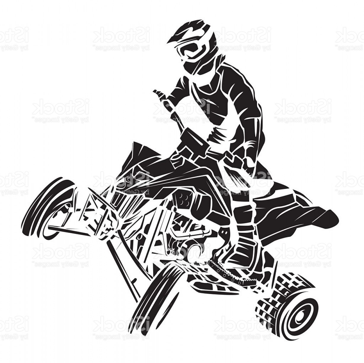 ATV Rider Vector: Atv Moto Rider Tattoo Gm