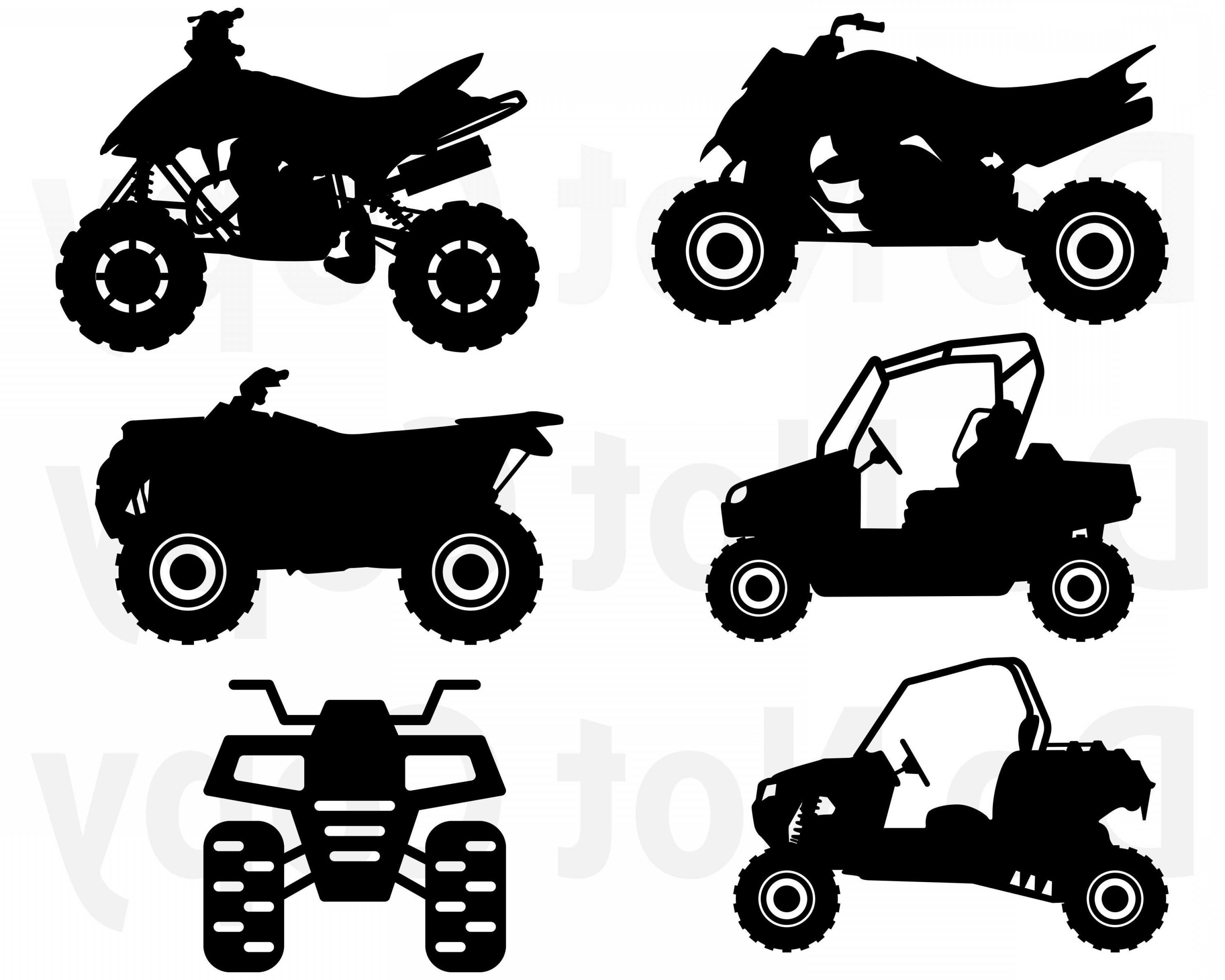 ATV Vector Clip Art: Atv Svg Bundle Quad Svg File For Cricut