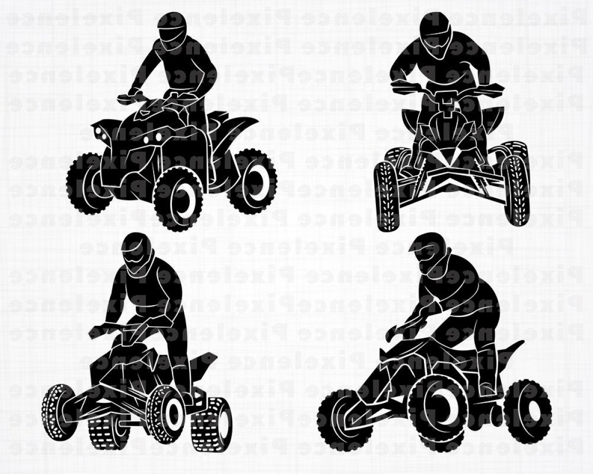 4 Wheeler Vector Art: Atv Svg Files Wheeler Svg Atv