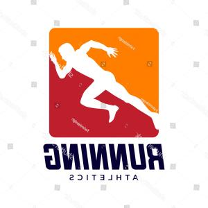 Shutterstock Vector Design With Runner: Athlete Runner Silhouette Logo Design Vector