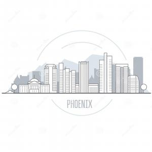 Arizona Skyline Vector: Atlanta Skyline Vector Free