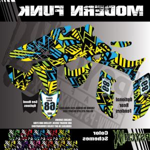 2008 Yamaha Vector Decals: Atv Full Graphics Kit Modern Funk