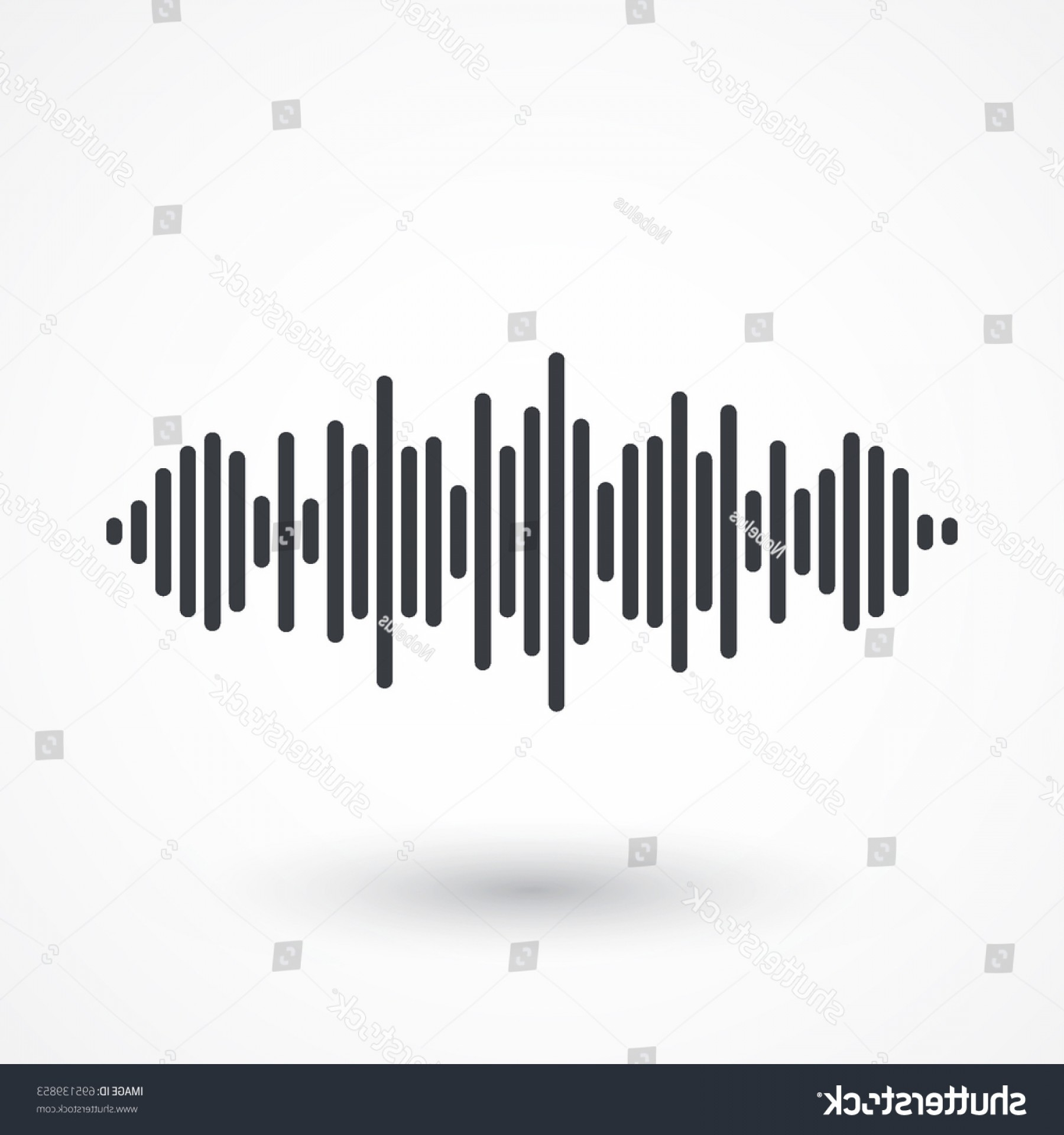 Frequency Icon Vector: Audio Signal Vector Icon Sound Music