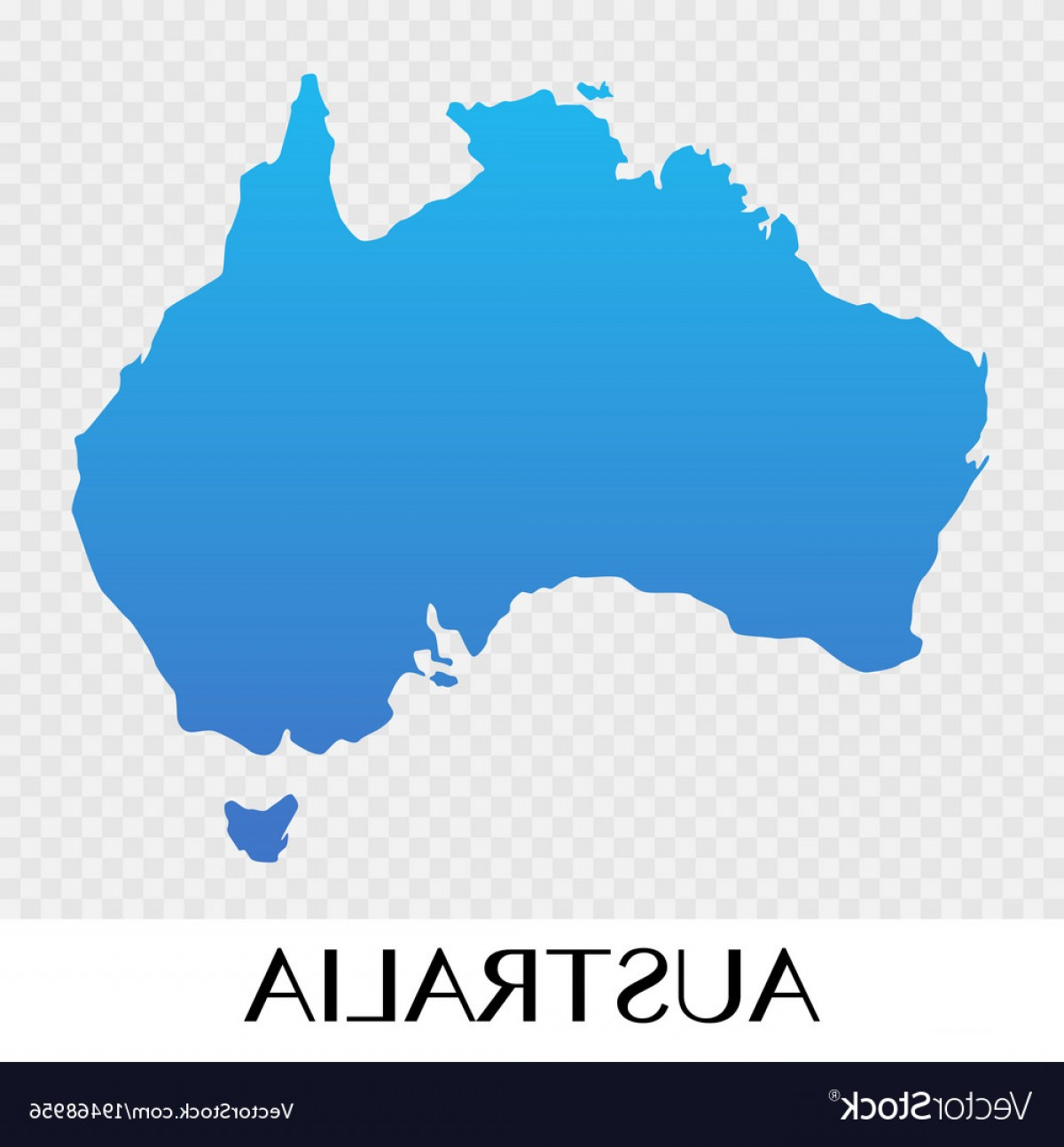 Asia Continent Map Vector: Australia Map In Asia Continent Design Vector