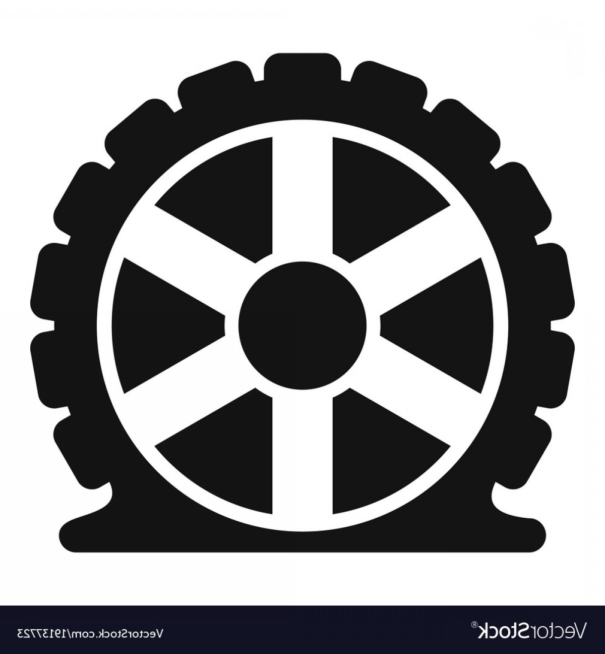 Tire Icon Vector: Auto Tire Icon Simple Style Vector
