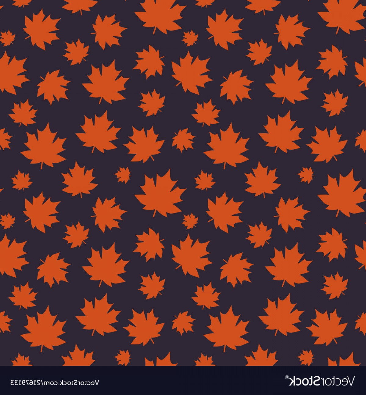 Autumn Seamless Vector: Autumn Seamless Pattern With Maple Leaves On Vector