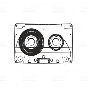 Audio Cassette Vector: Audio Cassette Tape Isolated Vector Illustration Gm