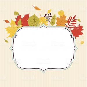 Elegant Border Vector Art: Autumn Leaves Elegant Frame Gm