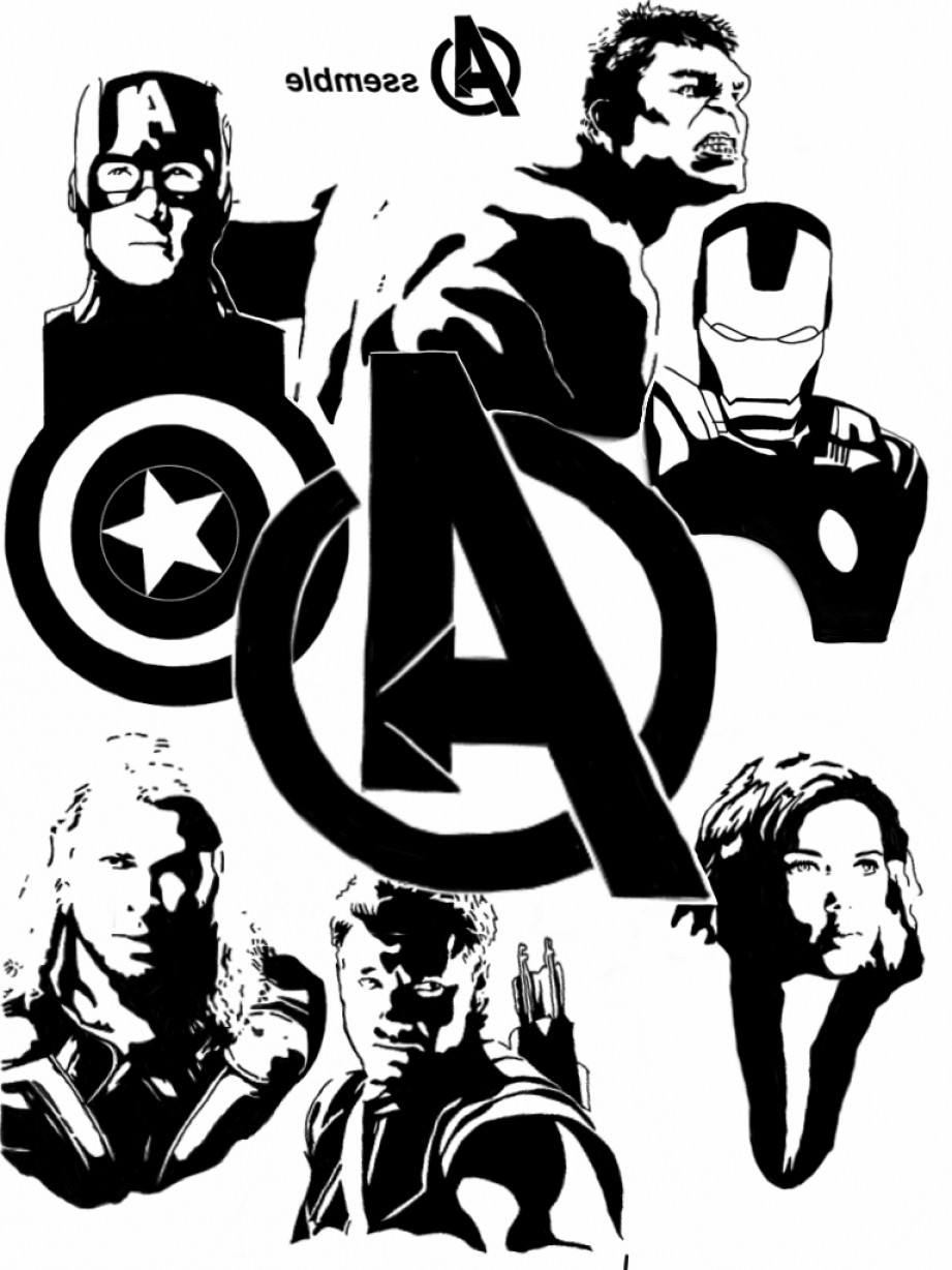 Thor Vector Black: Avengers Clip Art Black And White