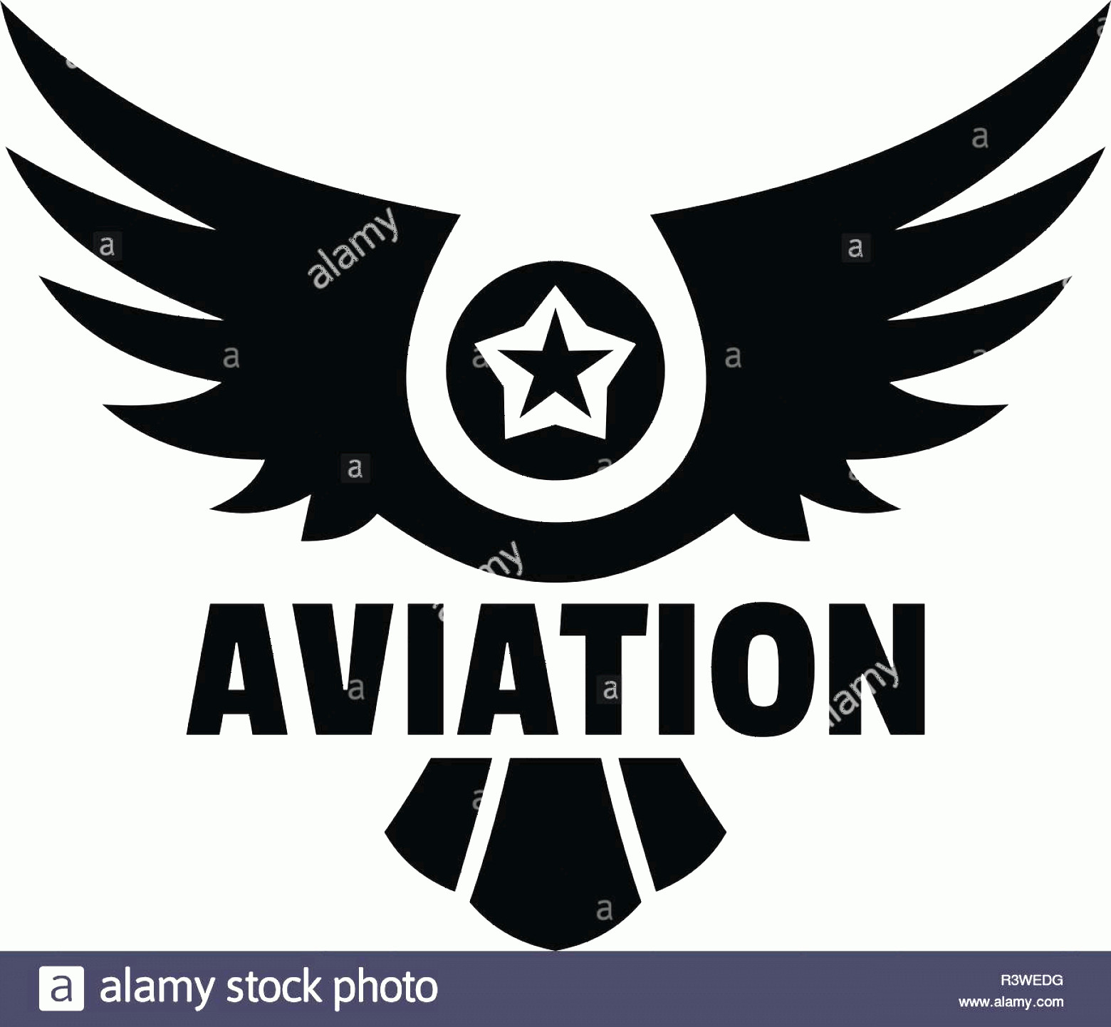 Aviation Vector Designs: Aviation Logo Simple Illustration Of Aviation Vector Logo For Web Design Isolated On White Background Image