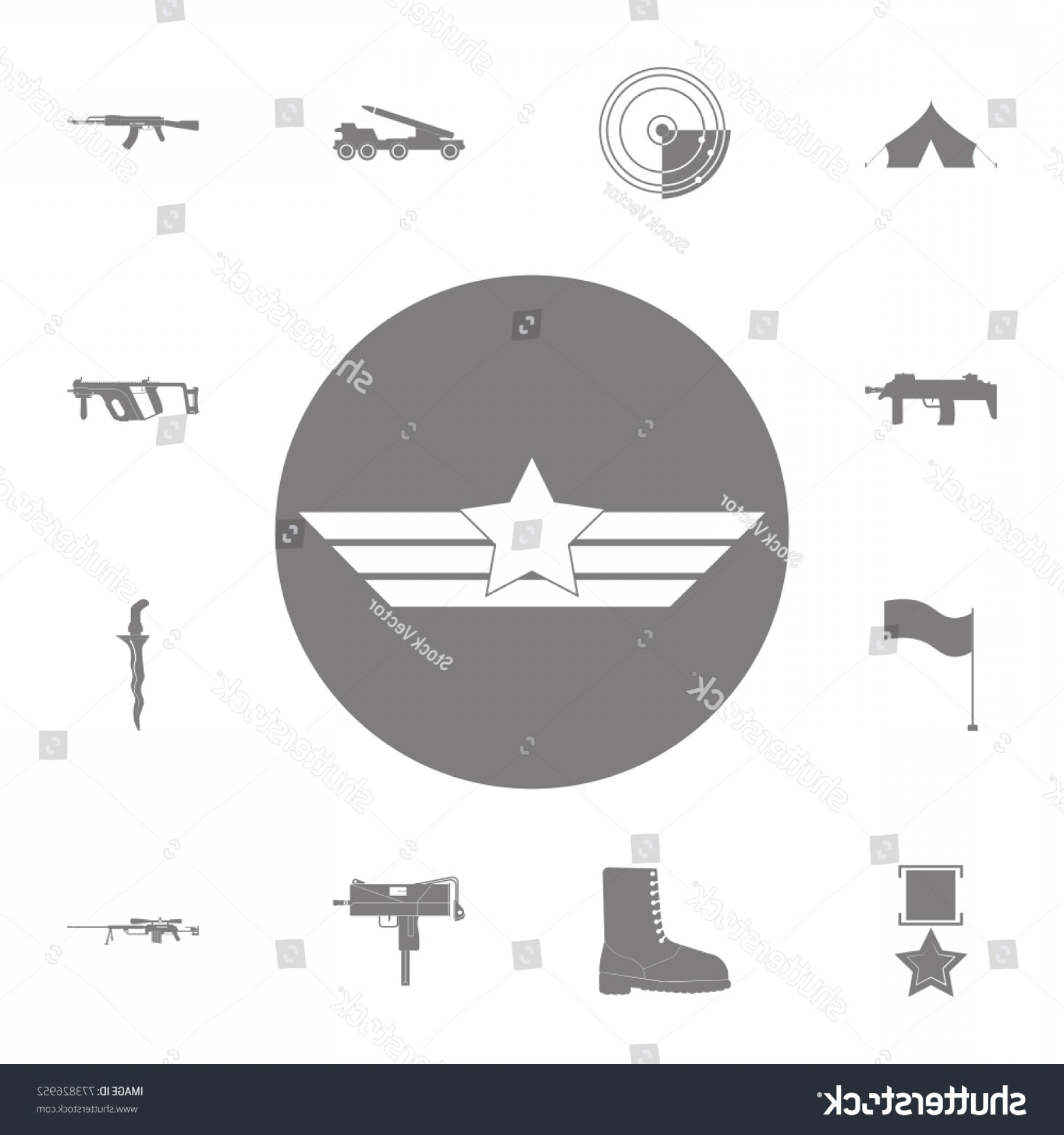 Army Aviator Wings Vector: Aviation Wings Icon Set Military Elements