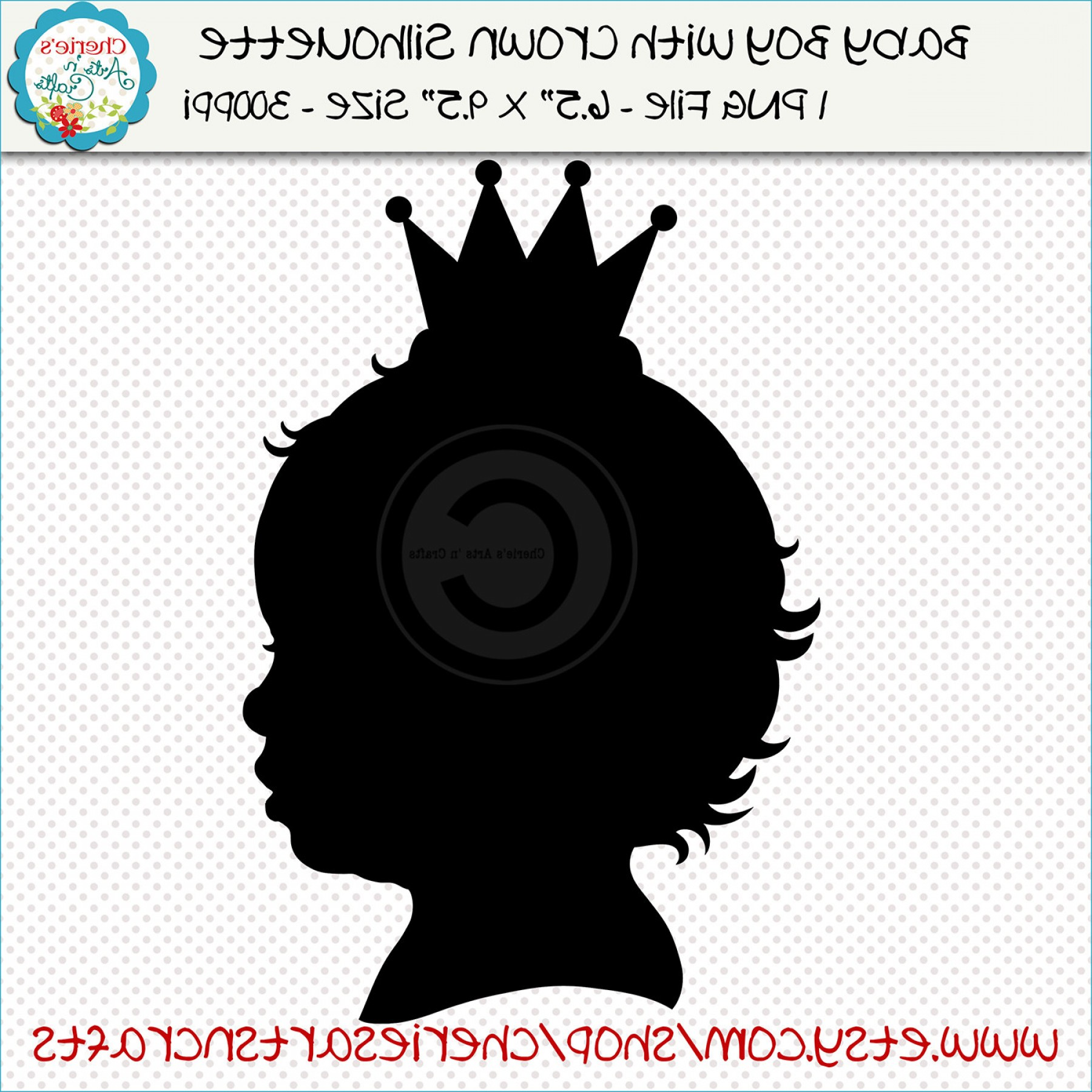 Baby Tiara Silhouette Vector: Baby Boy With Crown Silhouette Baby