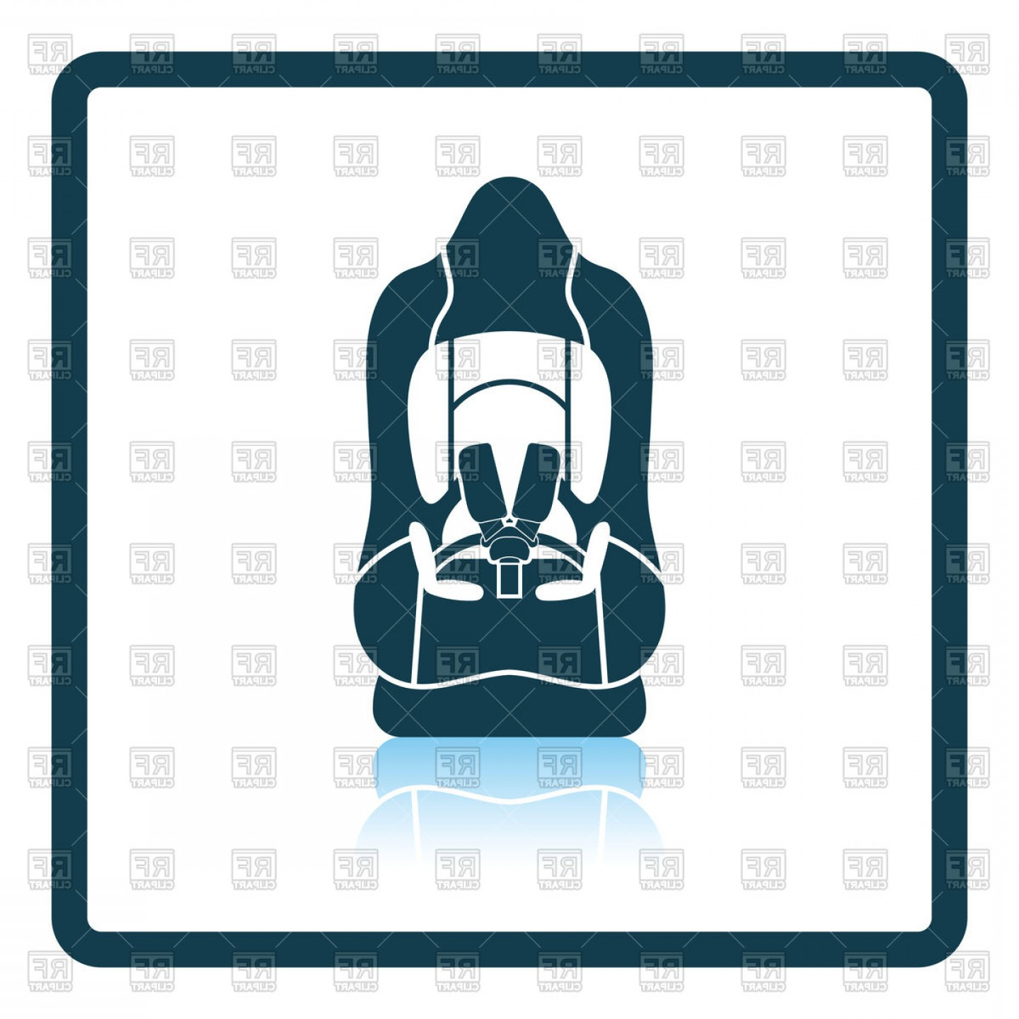 Vector Baby Seat: Baby Car Seat Icon Vector Clipart