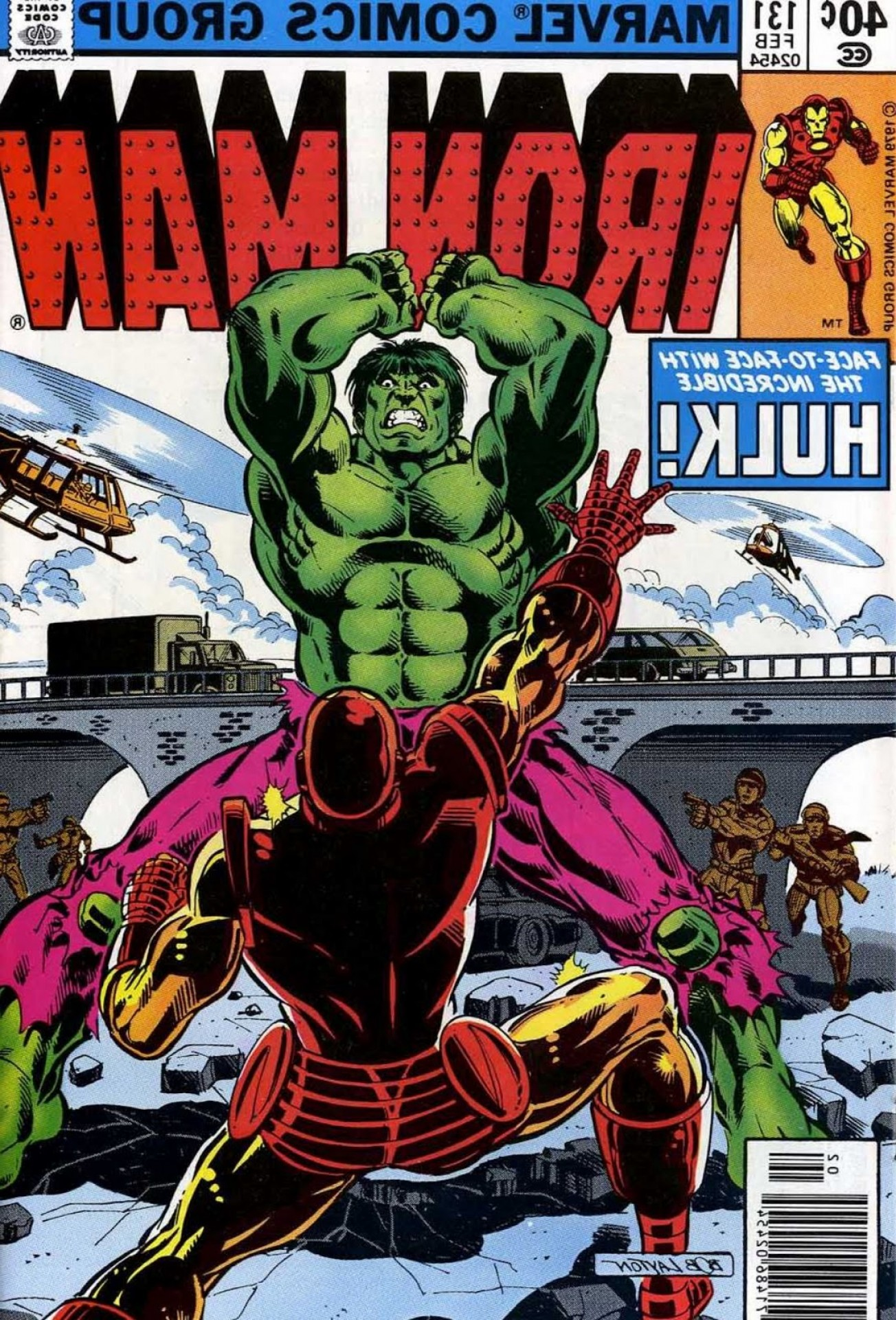 Hulk Origional Vectors: Back Issue Ben Iron Man Vs Hulk