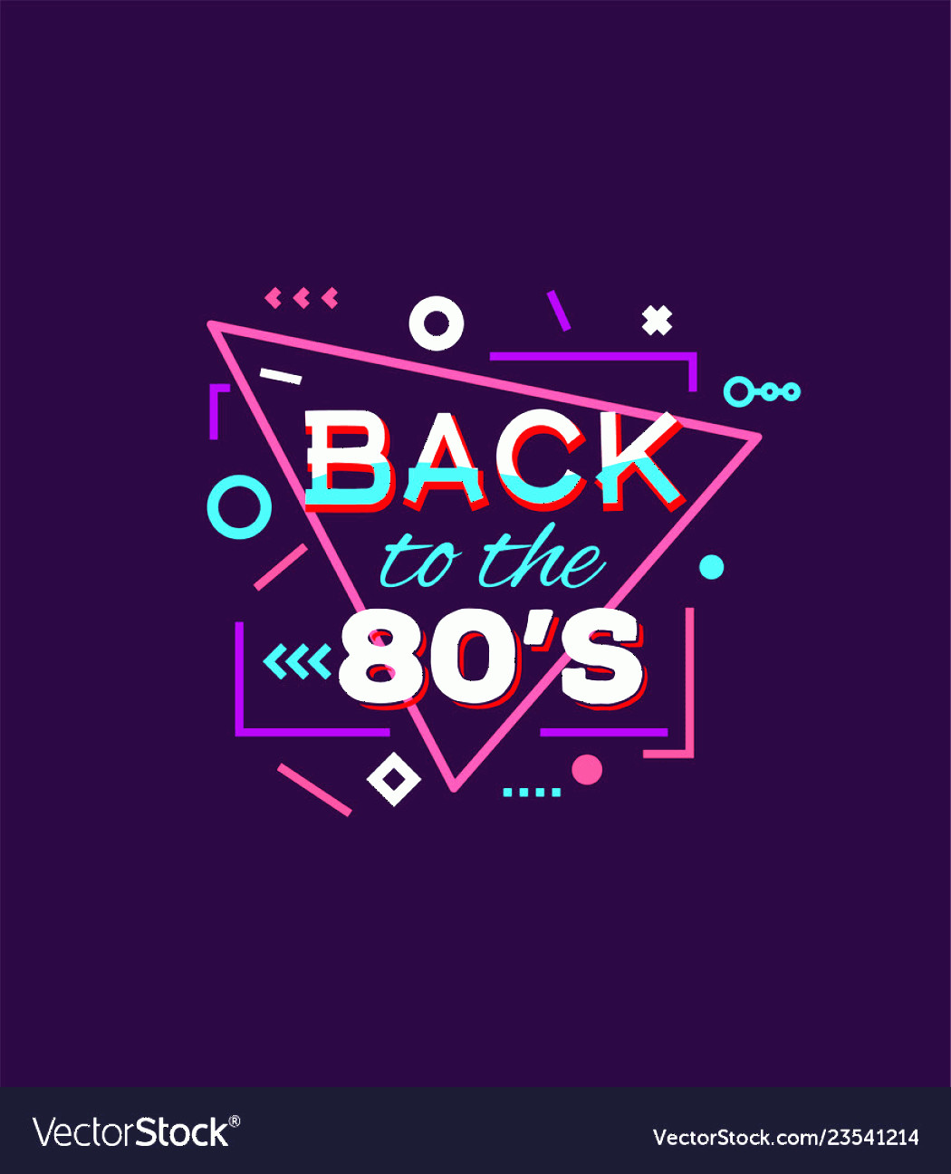 Vectorgraph 80s: Back To S Print Vector