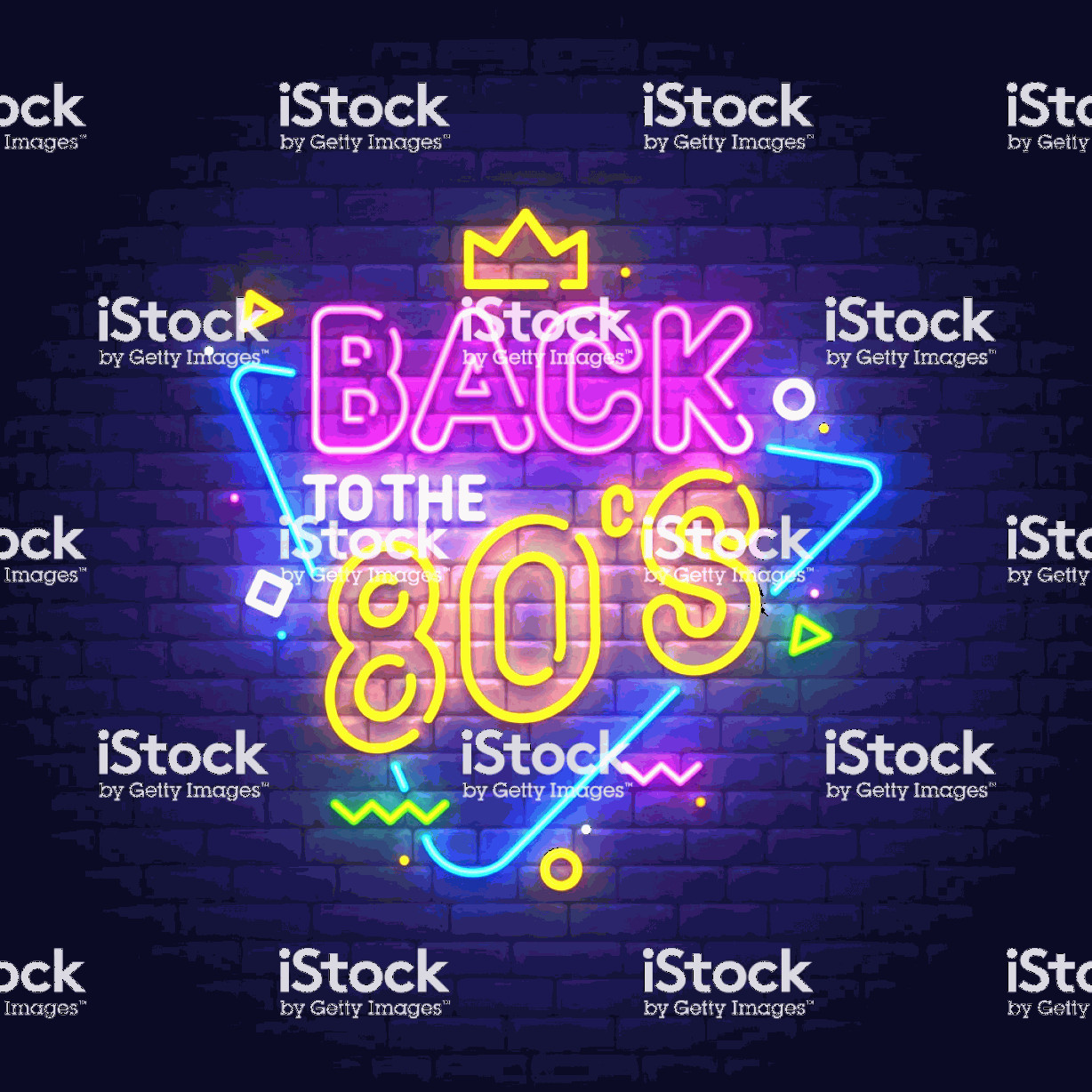 Vectorgraph 80s: Back To The S Neon Sign Bright Signboard Light Banner Vector Illustration Gm