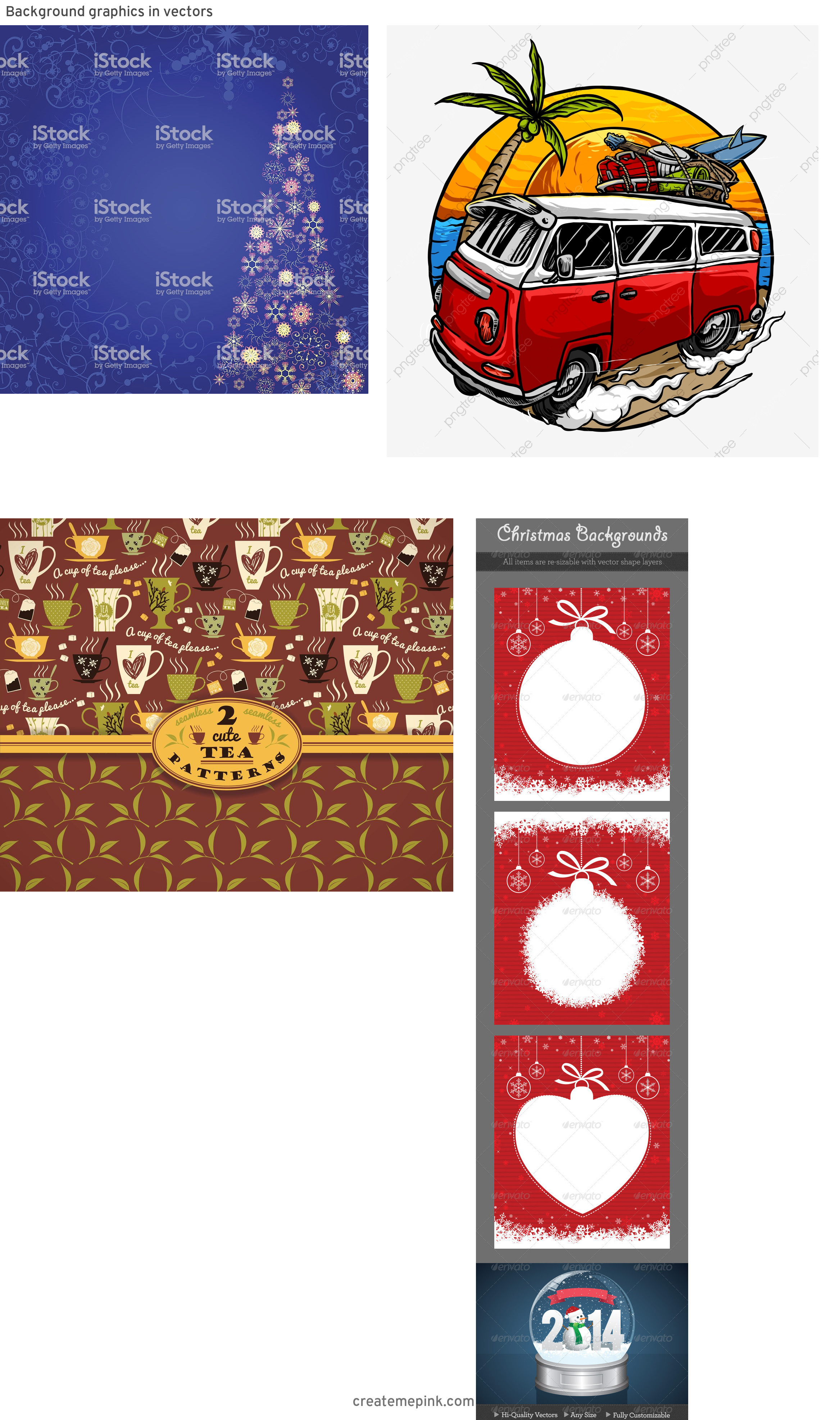 Professional Christmas Backgrounds Vector: Background Graphics In Vectors