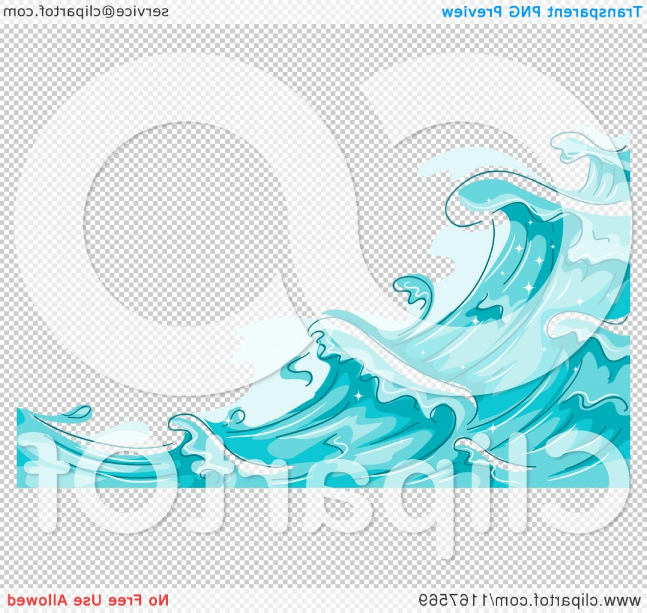 Cartoon Water Background Vector Clip Art: Background Of Blue Water And Splashing Waves