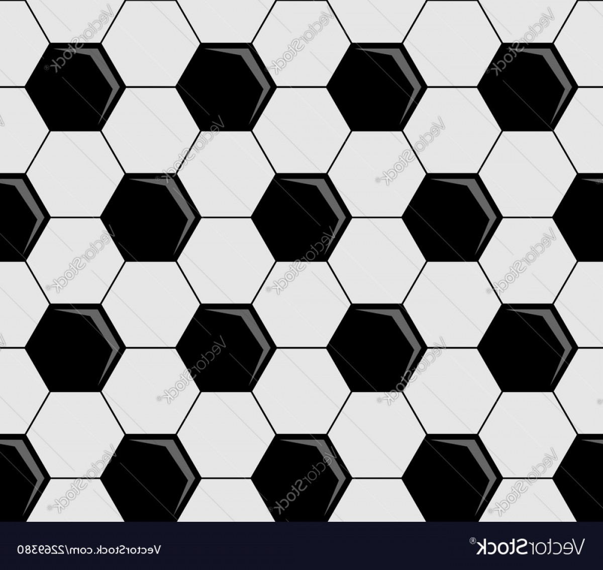 Vector Soccer Ball Pattern: Background Pattern Of Soccer Ball Pentagons Vector