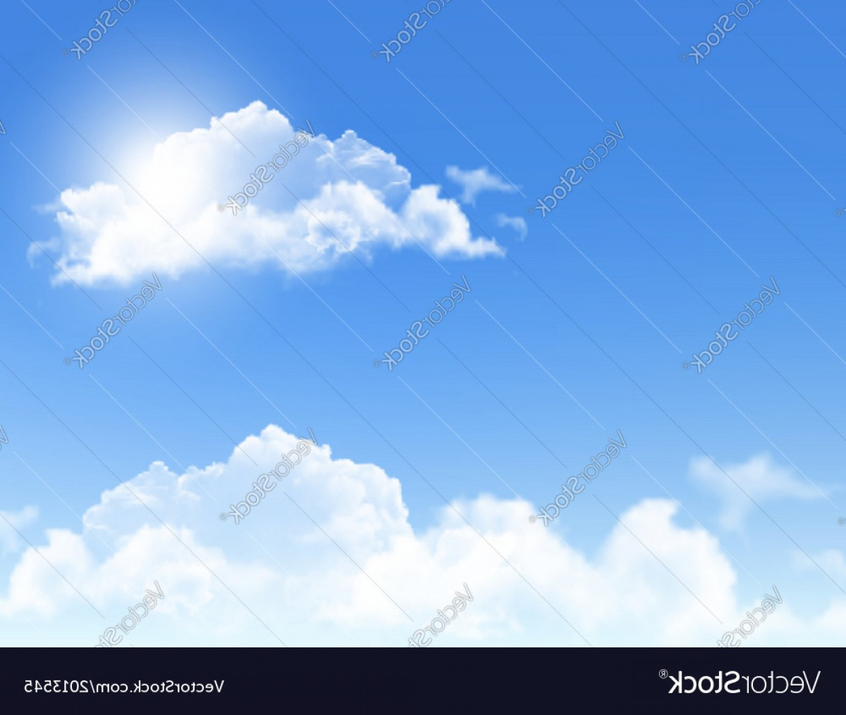 Clouds Backgrounds Vector: Background With Blue Sky And Clouds Backgrounds Vector