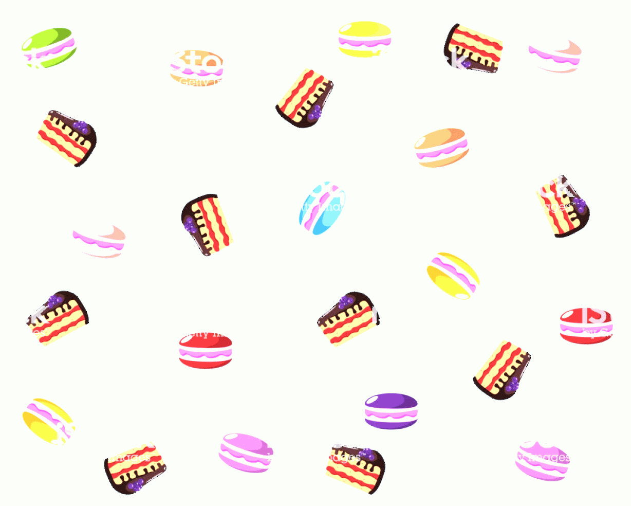 Vector Abstract Art Cake: Background With Cake And Macaroons Gm