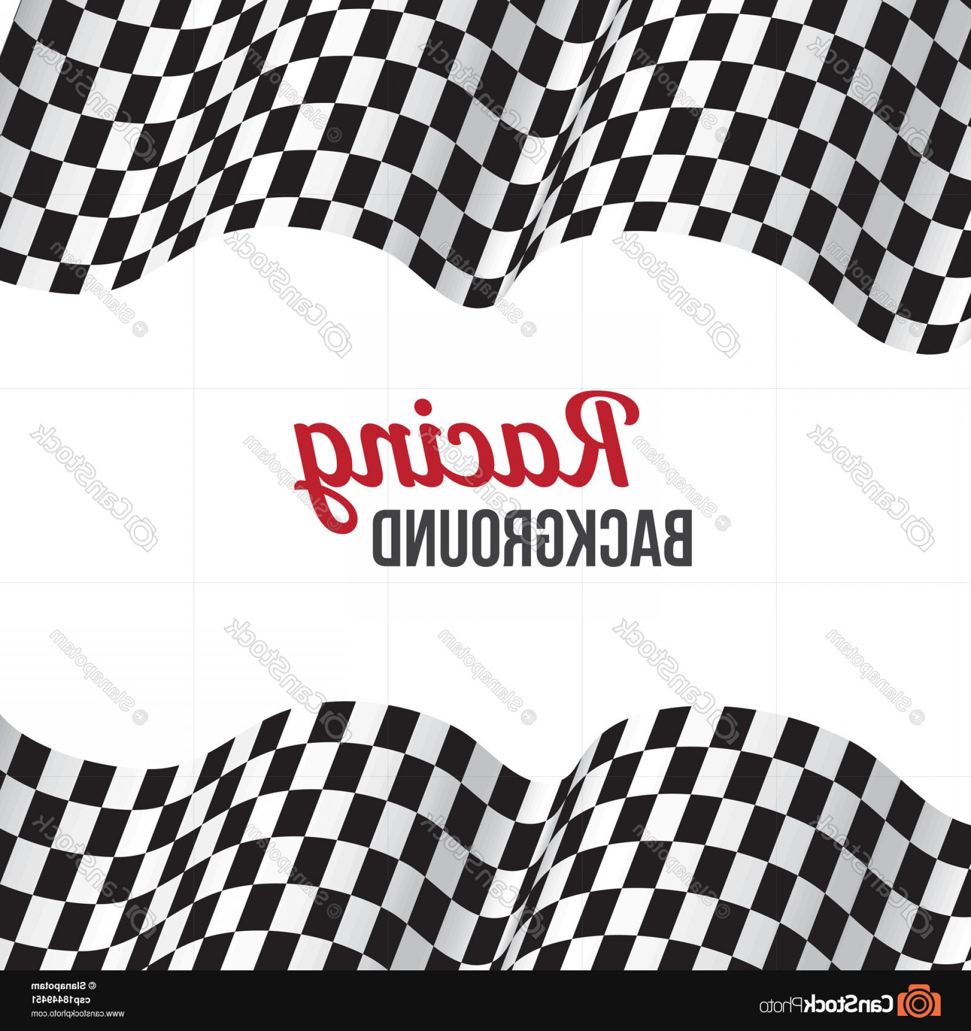 Checkered Flag Background Vector: Background With Checkered Racing Flag