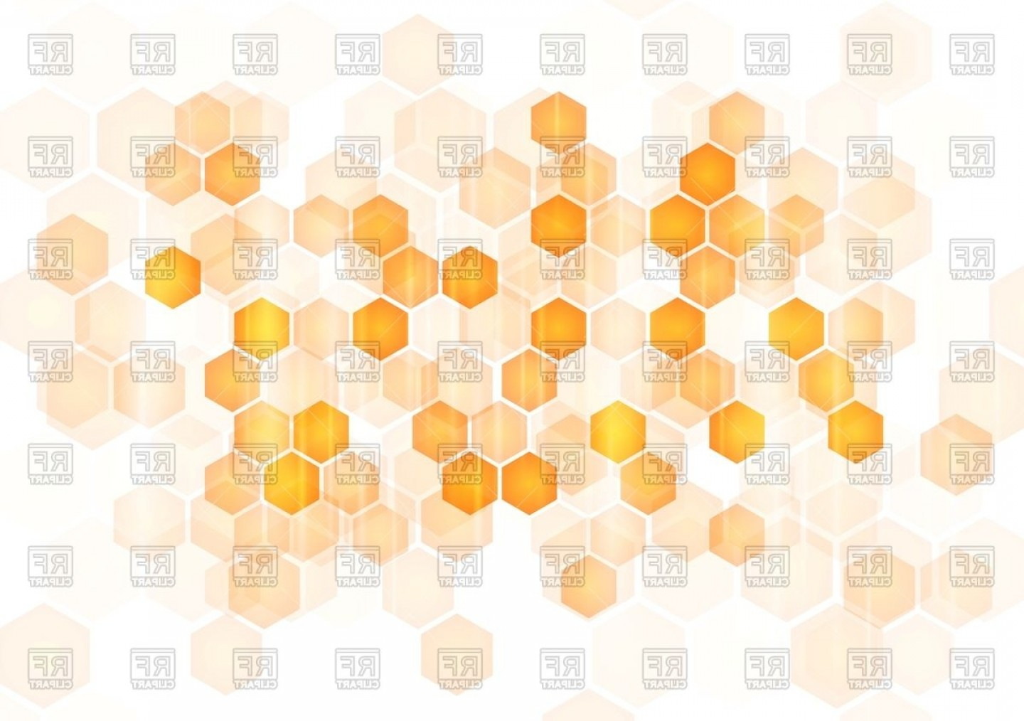 Hexagon Honeycomb Pattern Vector: Background With Hexagons Abstract Honeycomb Vector Clipart
