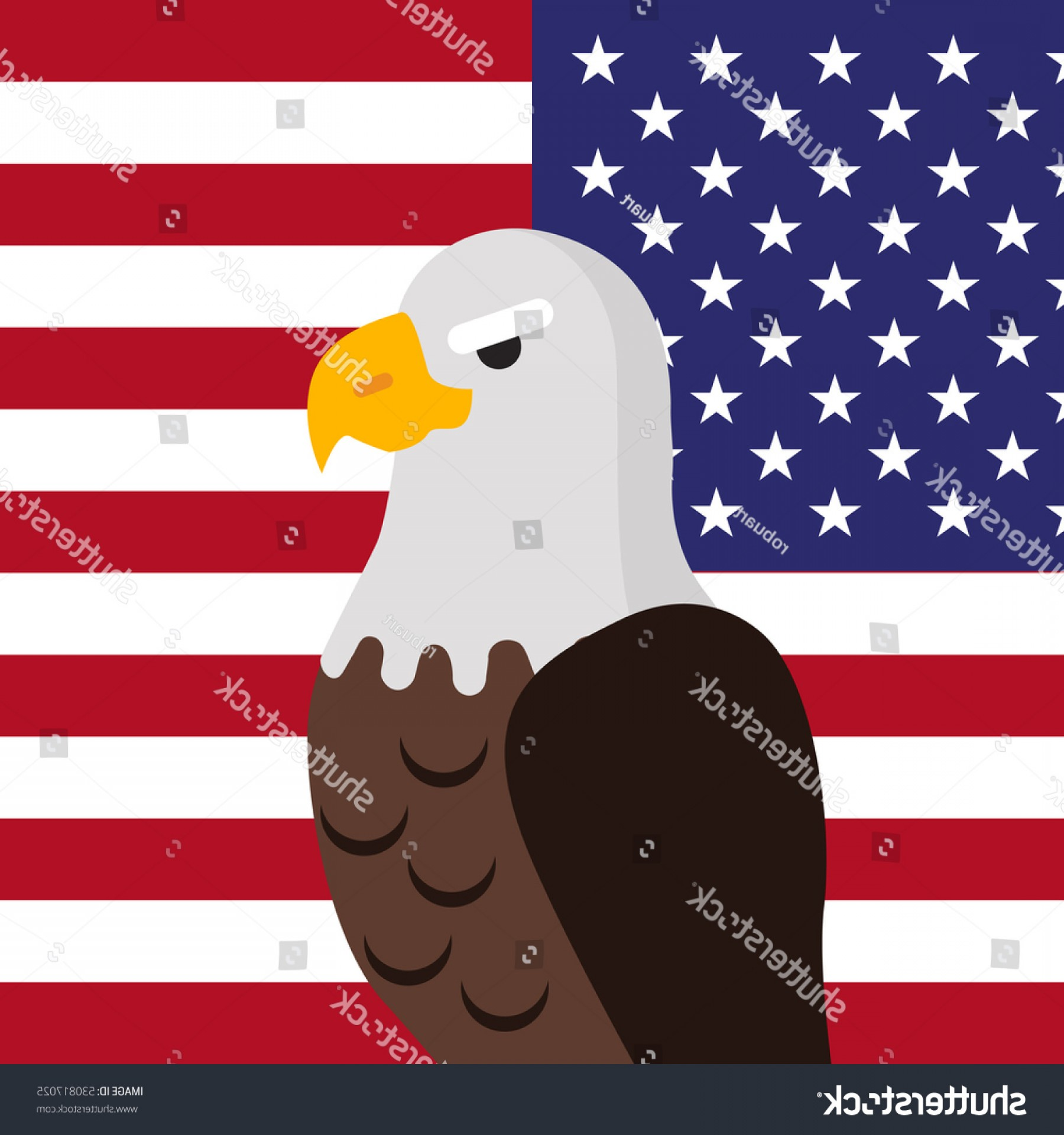 Patriotic Bald Eagle Vector: Bald Eagle Vector Usa National Bird