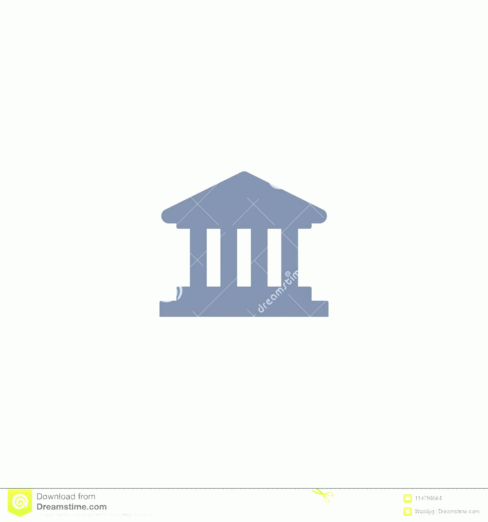 Court Building Vector: Bank Icon Court Building Vector Icon Bank Icon Court Building Vector Best Line Icon White Background Eps Image